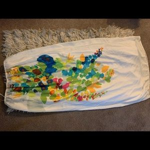Calypso st Barth maxi dress tube white floral s